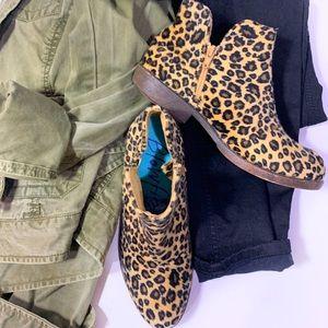 Blowfish Low Cut Cheetah Ankle Booties